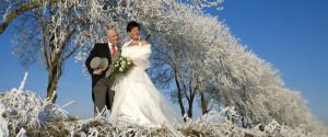 Gave huwelijksreportage in de winter Flevoland 003